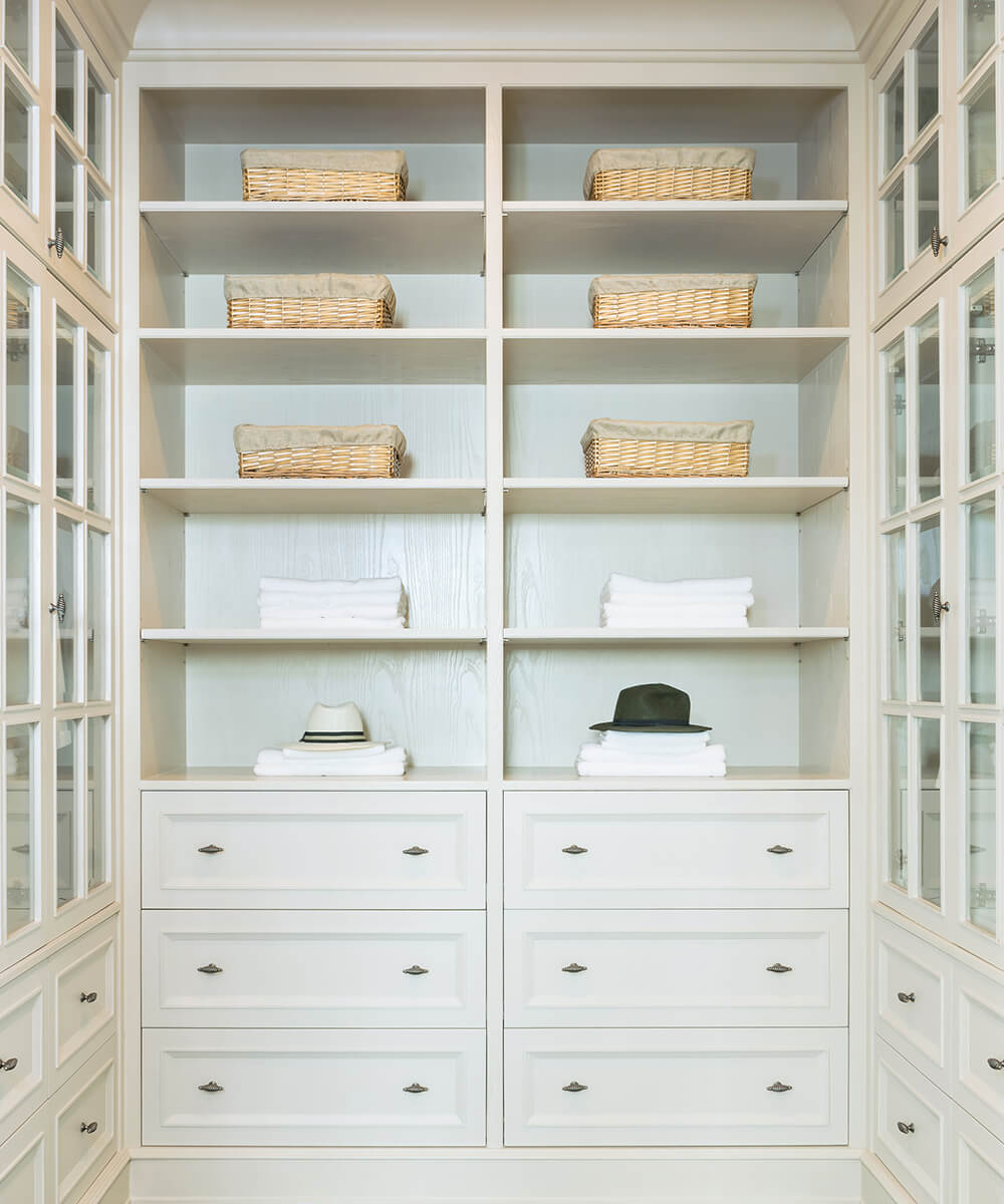 Custom Cabinet design for bathrooms, closets, pantries, and more
